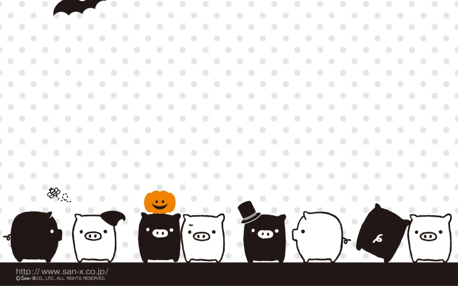 Mono KuRo BOO wallpapers: Lovely black pig and white pig cartoon