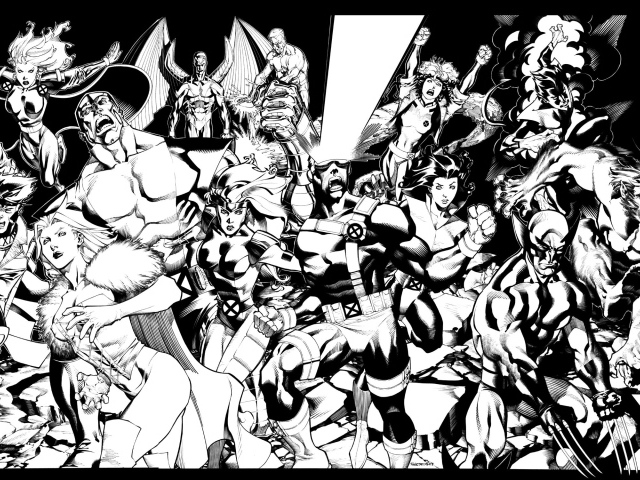 X-Men in black and white wallpapers and images - wallpapers