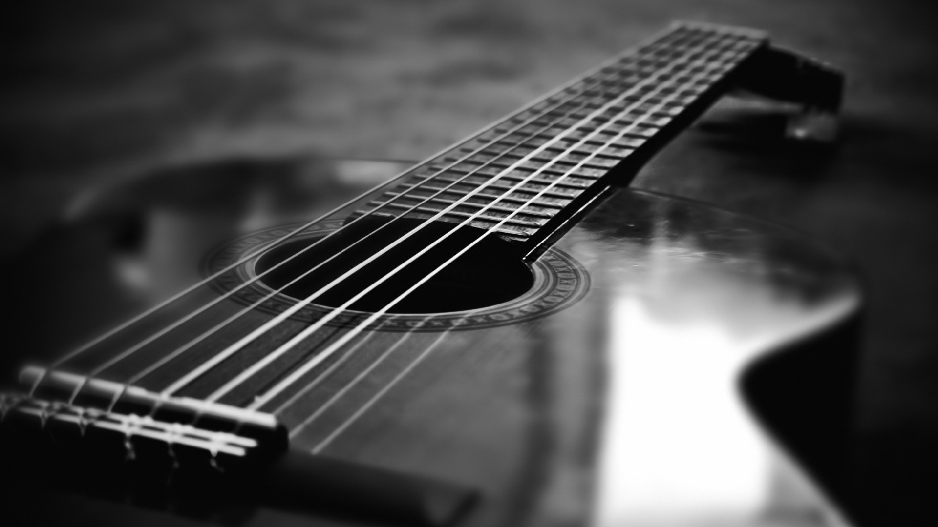 Black And White Guitar HD Wallpapers | Ideas for the House