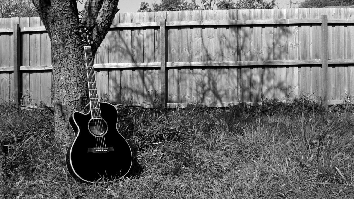 Black And White Guitar Wallpapers Group (69+)