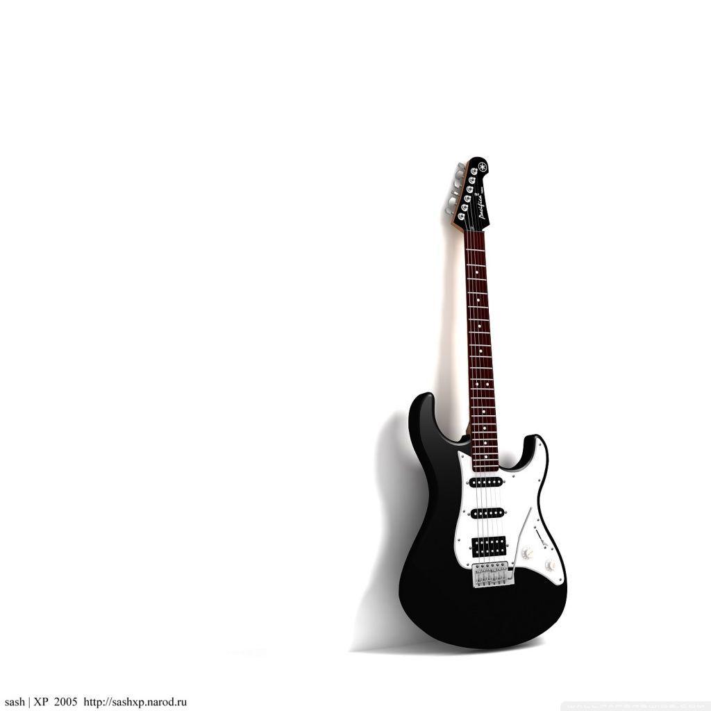 black and white guitar wallpaper - sf wallpaper