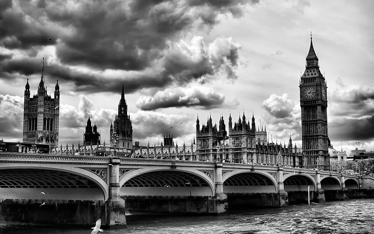 London Background Black And White Photography #4865 | Inredning