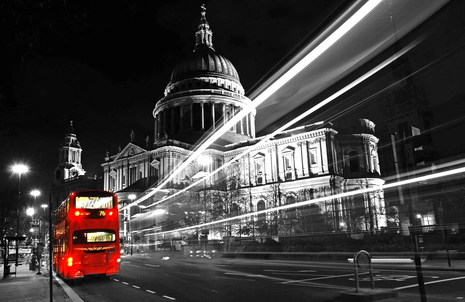 London bus black and white photography with color | Black and