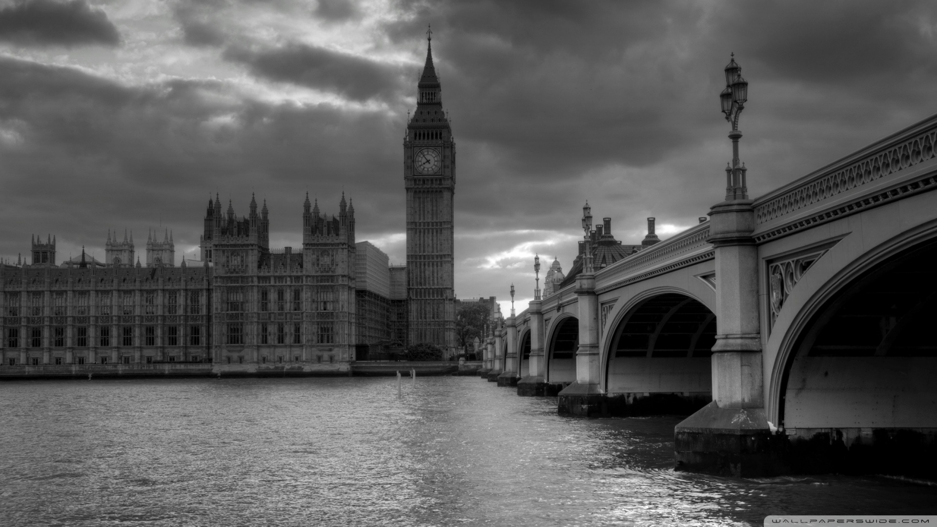 London In Black And White HD desktop wallpaper : High Definition