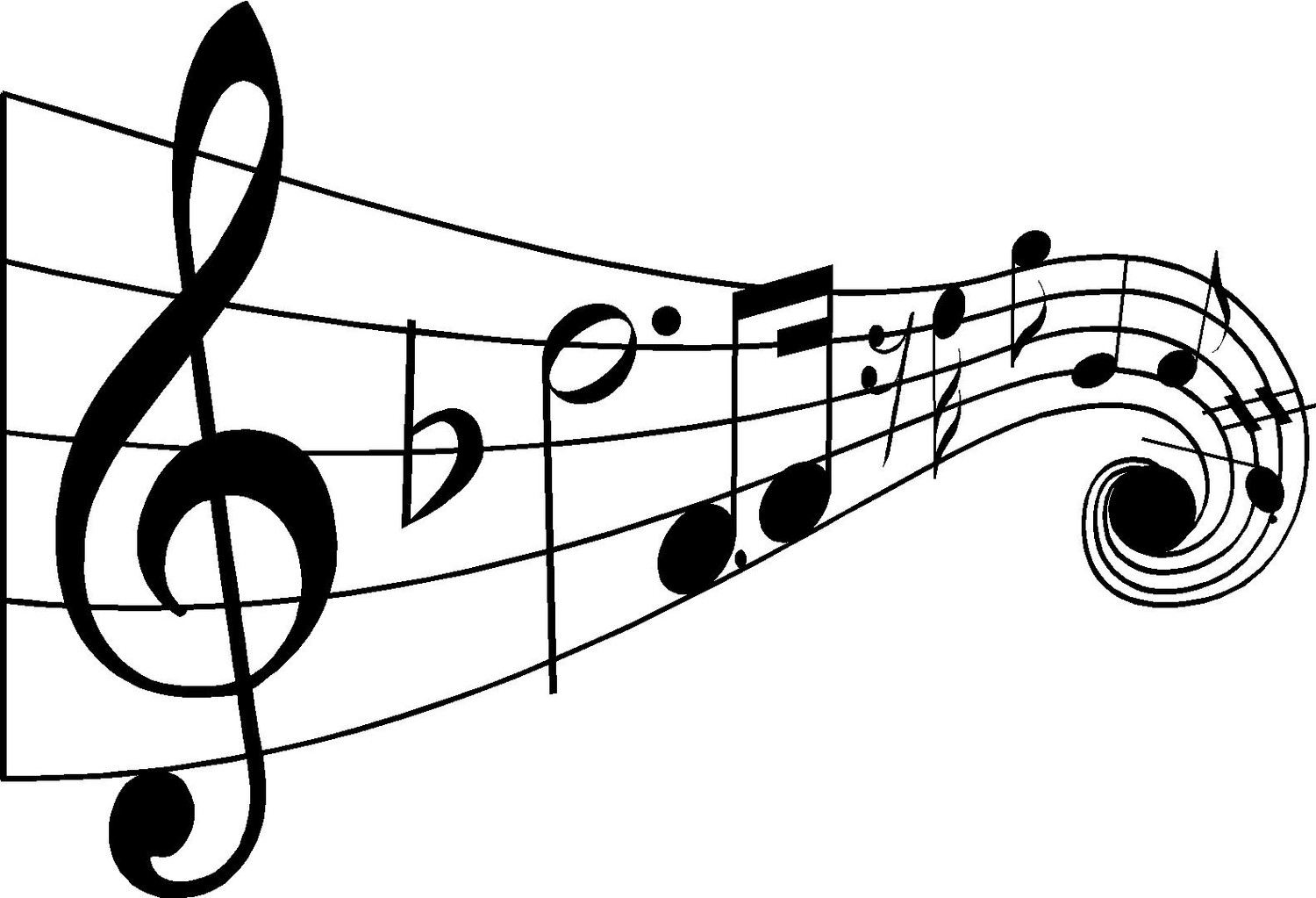 Best Black And White Music Notes #9920 - Clipartion com