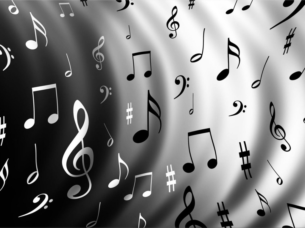 Best Black And White Music Notes #9911 - Clipartion com