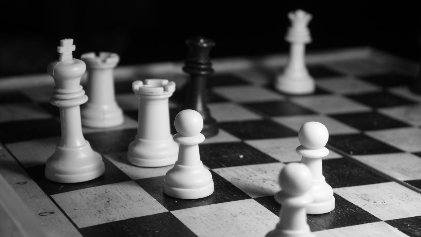 Chess black and white photography | HD Desktop Wallpaper