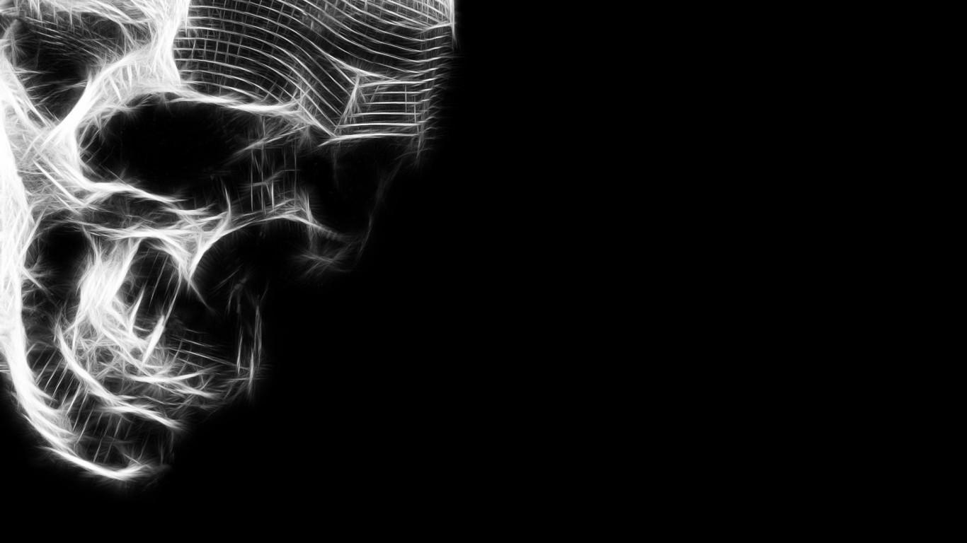 Black and White Skulls Wallpaper - WallpaperSafari