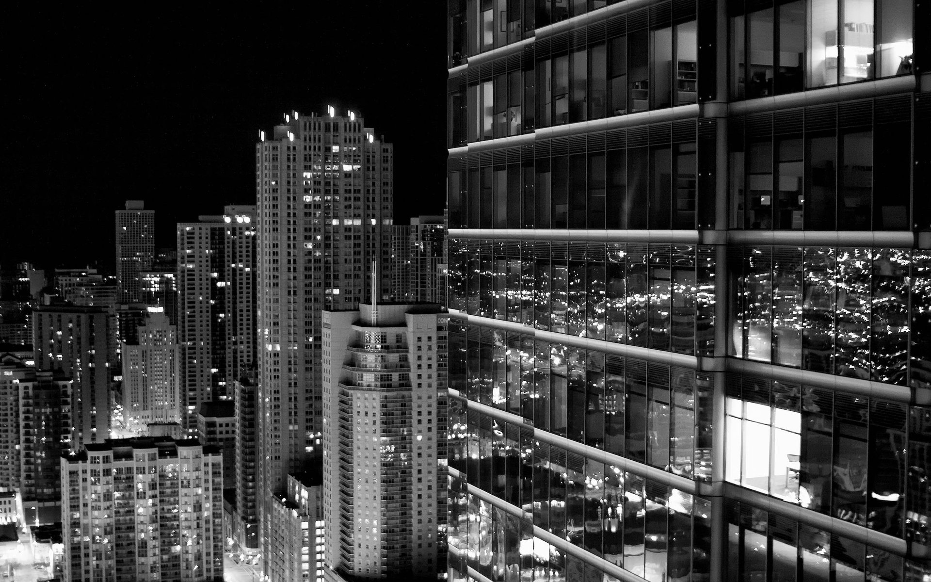 Black and White Cityscape Wallpaper - WallpaperSafari
