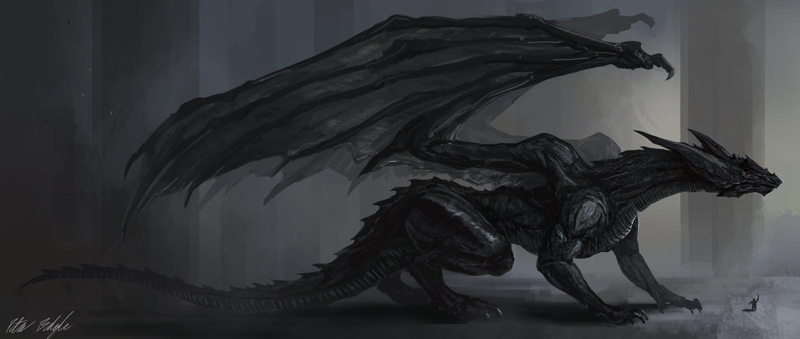 Black Dragon Wallpaper Hd Sf Wallpaper