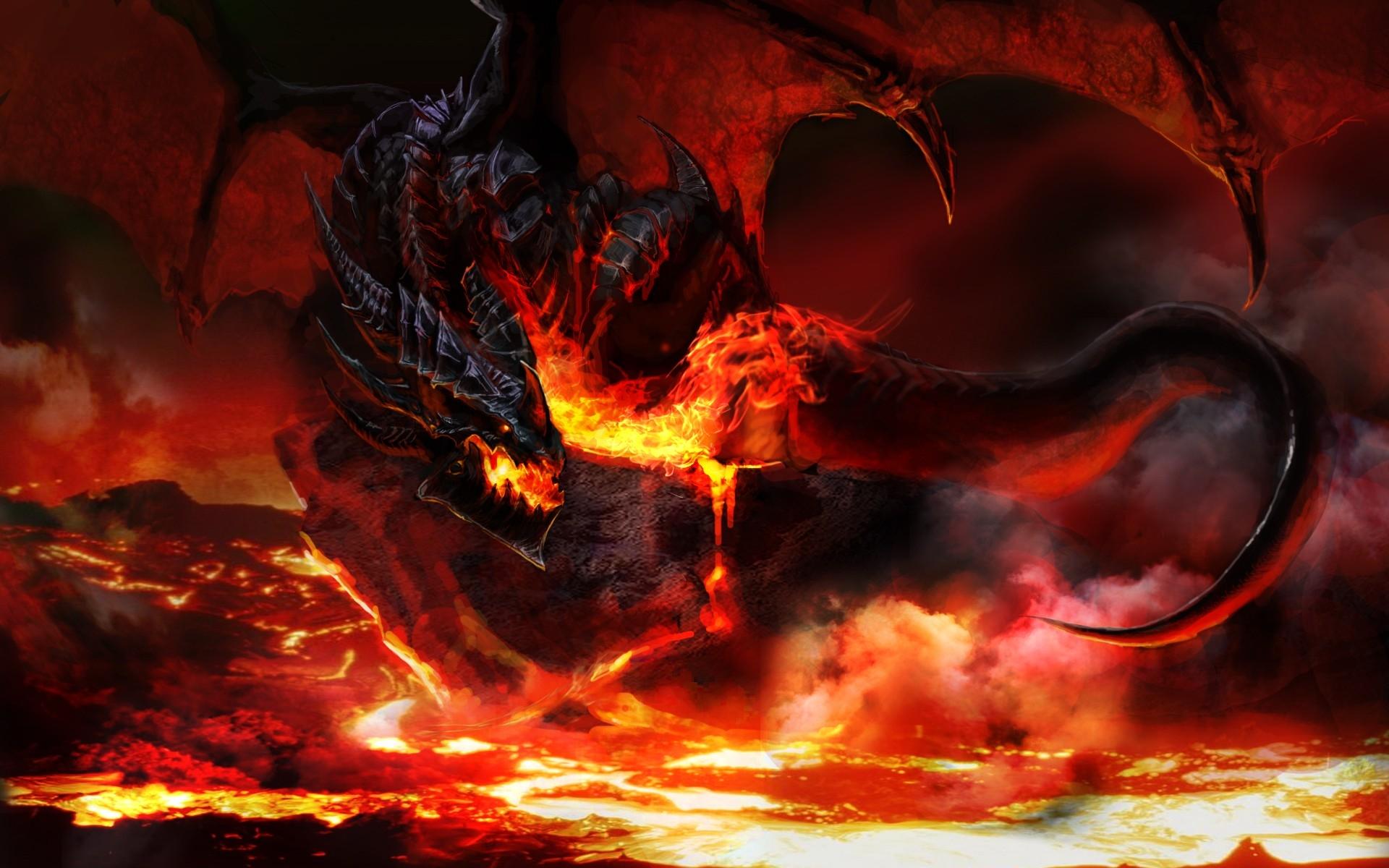 Black Dragon Fire - wallpaper
