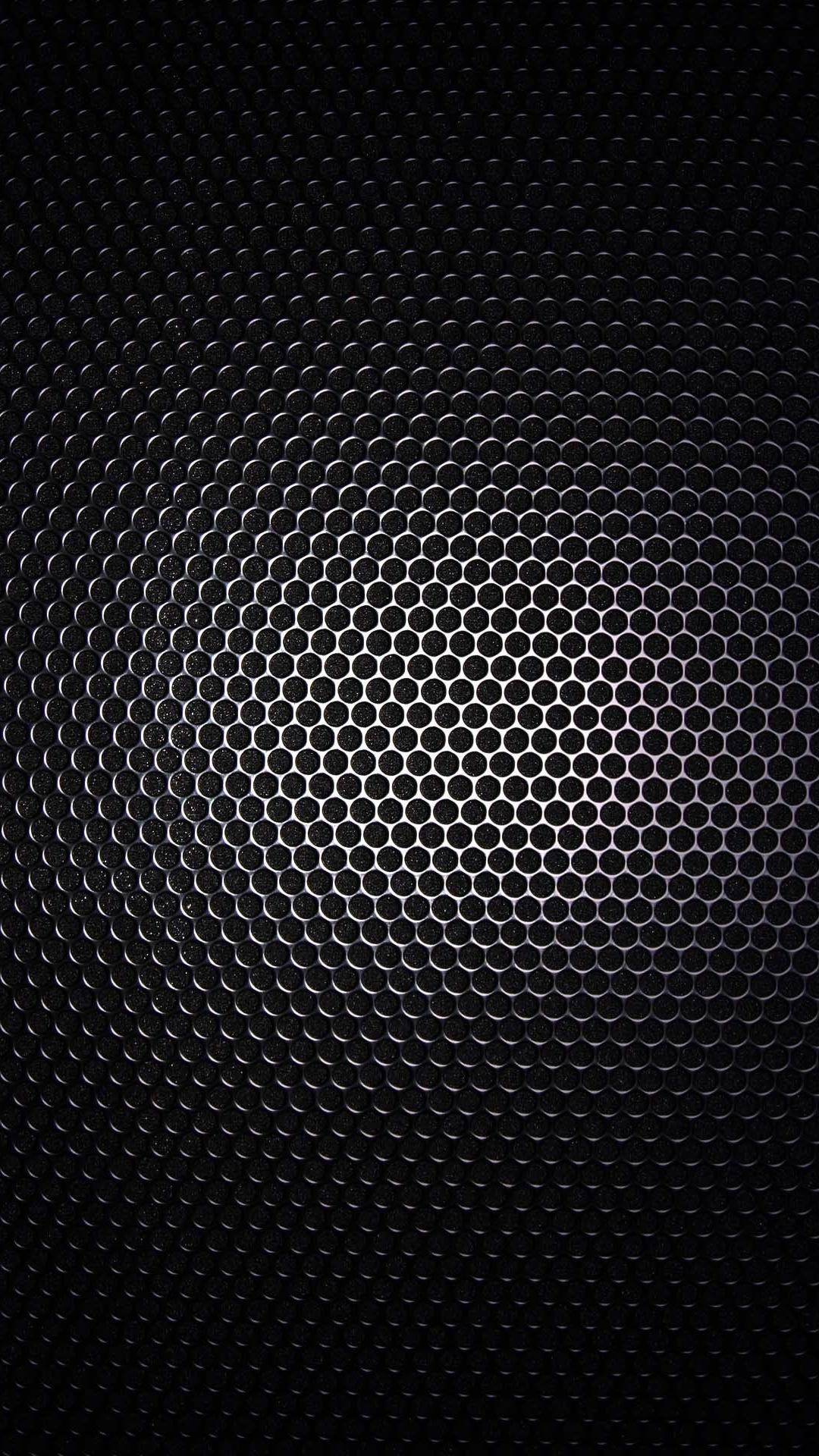 Wallpapers for Galaxy - Black Gradient Metal Grid