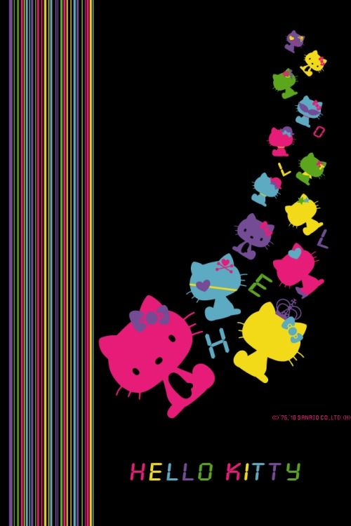 Black Hello Kitty Wallpaper Sf Wallpaper