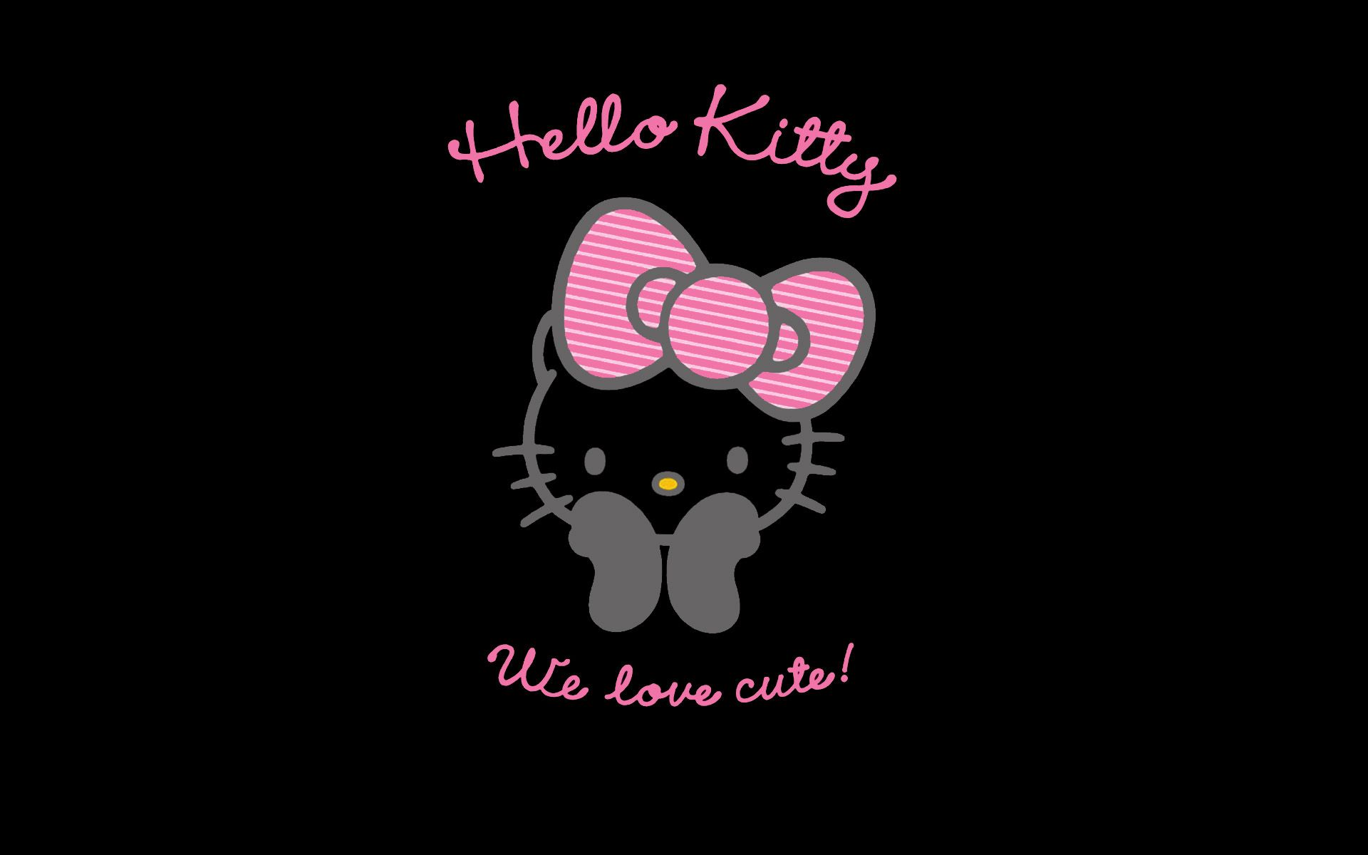 Pink And Black Hello Kitty Backgrounds