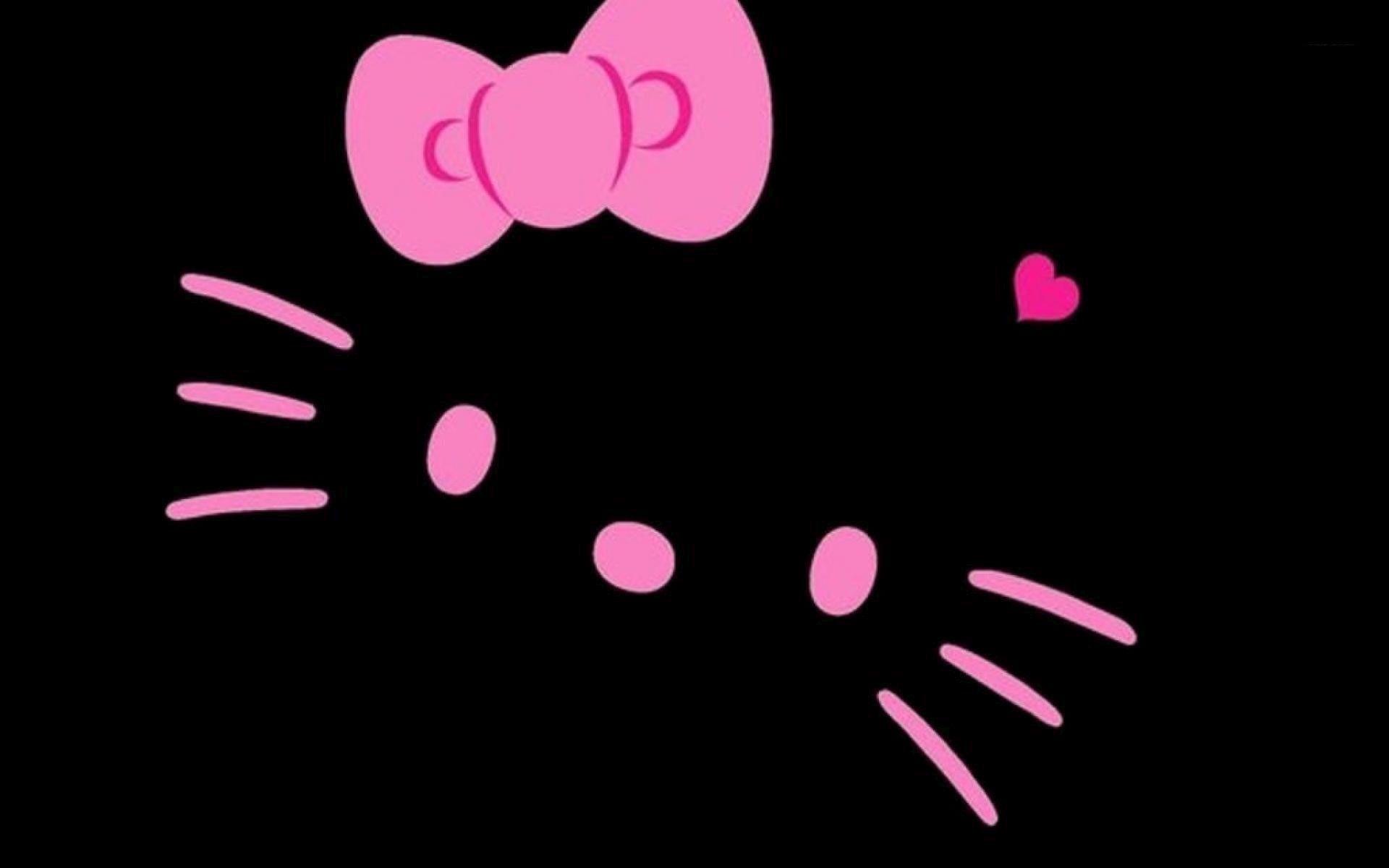 Black Hello Kitty Wallpaper Sf Wallpaper
