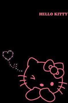 Black hello kitty wallpaper
