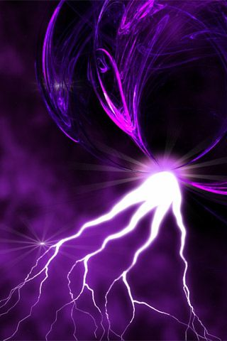 PURPLE ~ White Lightening in a Purple World | POSITIVELY
