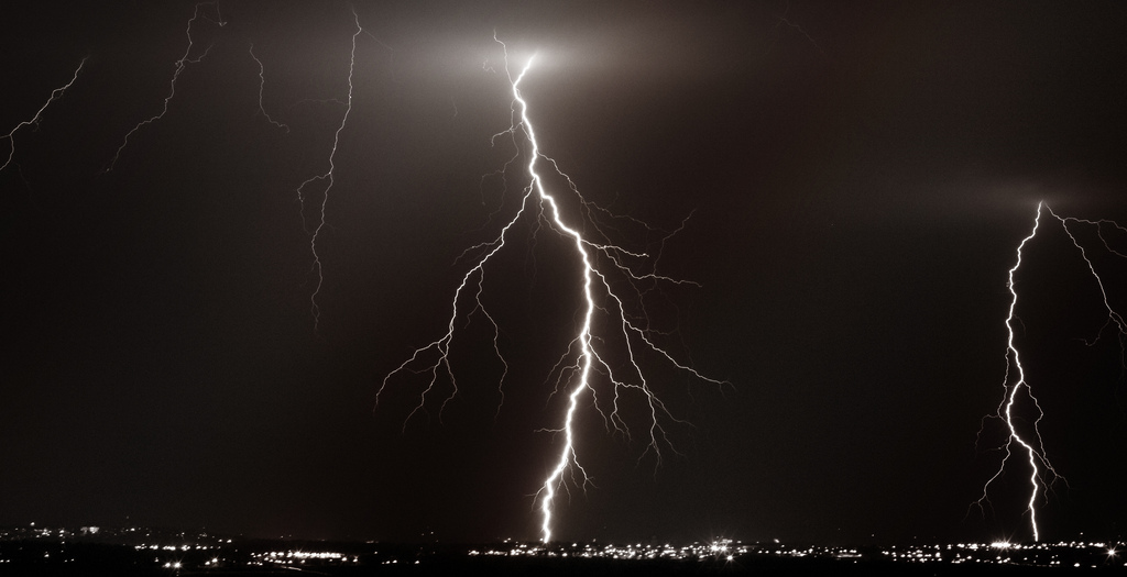 On Black: Lightning Strikes (2) by CNinDigital [Large]