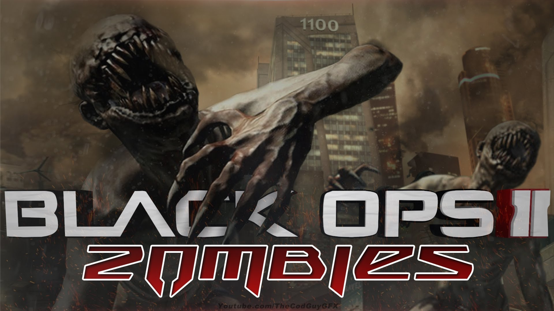 Black ops 2 Zombies Wallpaper SPEED ART! USED BY WHITEBOY7THST