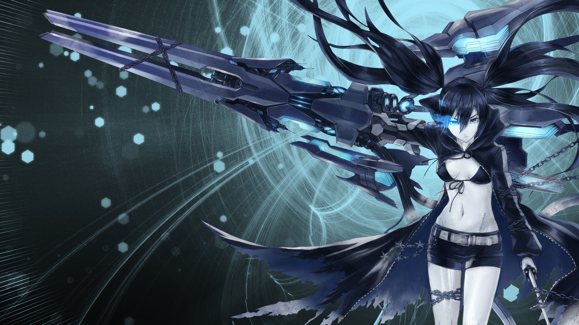 1920x1080 Mato kuroi black rock shooter Wallpaper
