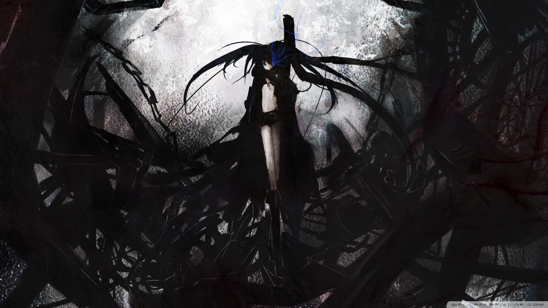 Black Rock Shooter HD desktop wallpaper : Mobile : Dual Monitor