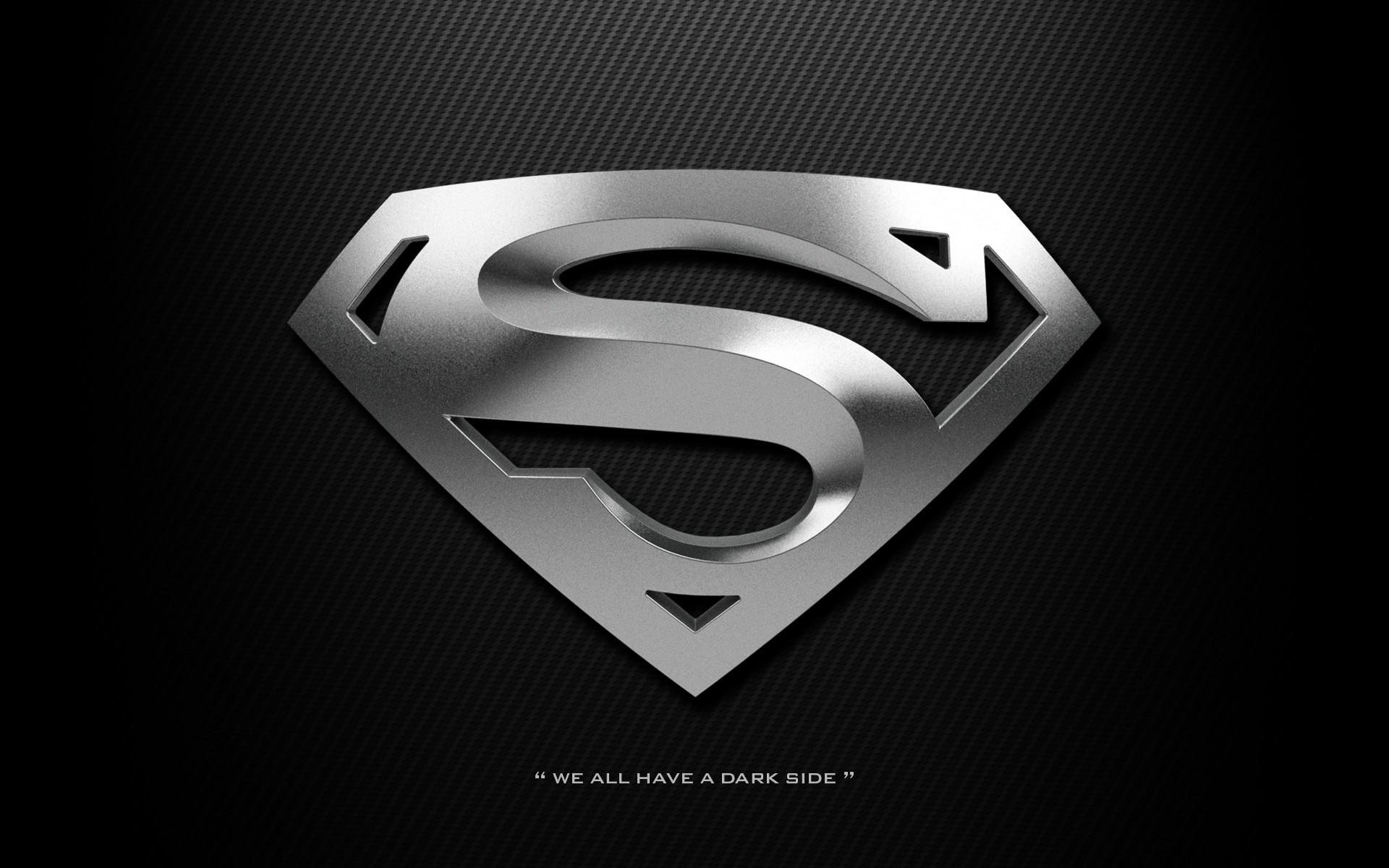 Black Superman Logo Wallpaper - WallpaperSafari