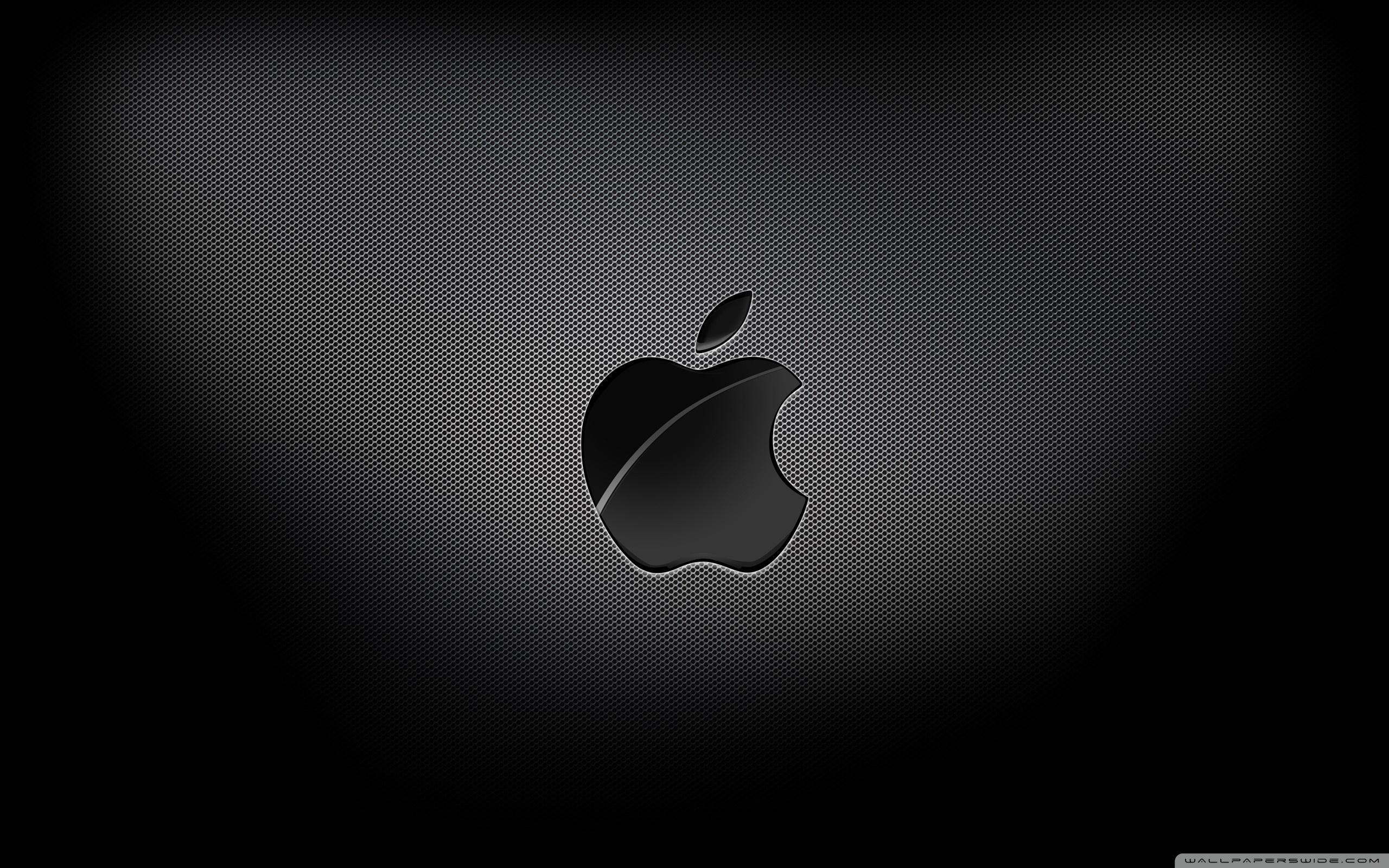 Apple Black Background HD desktop wallpaper : High Definition