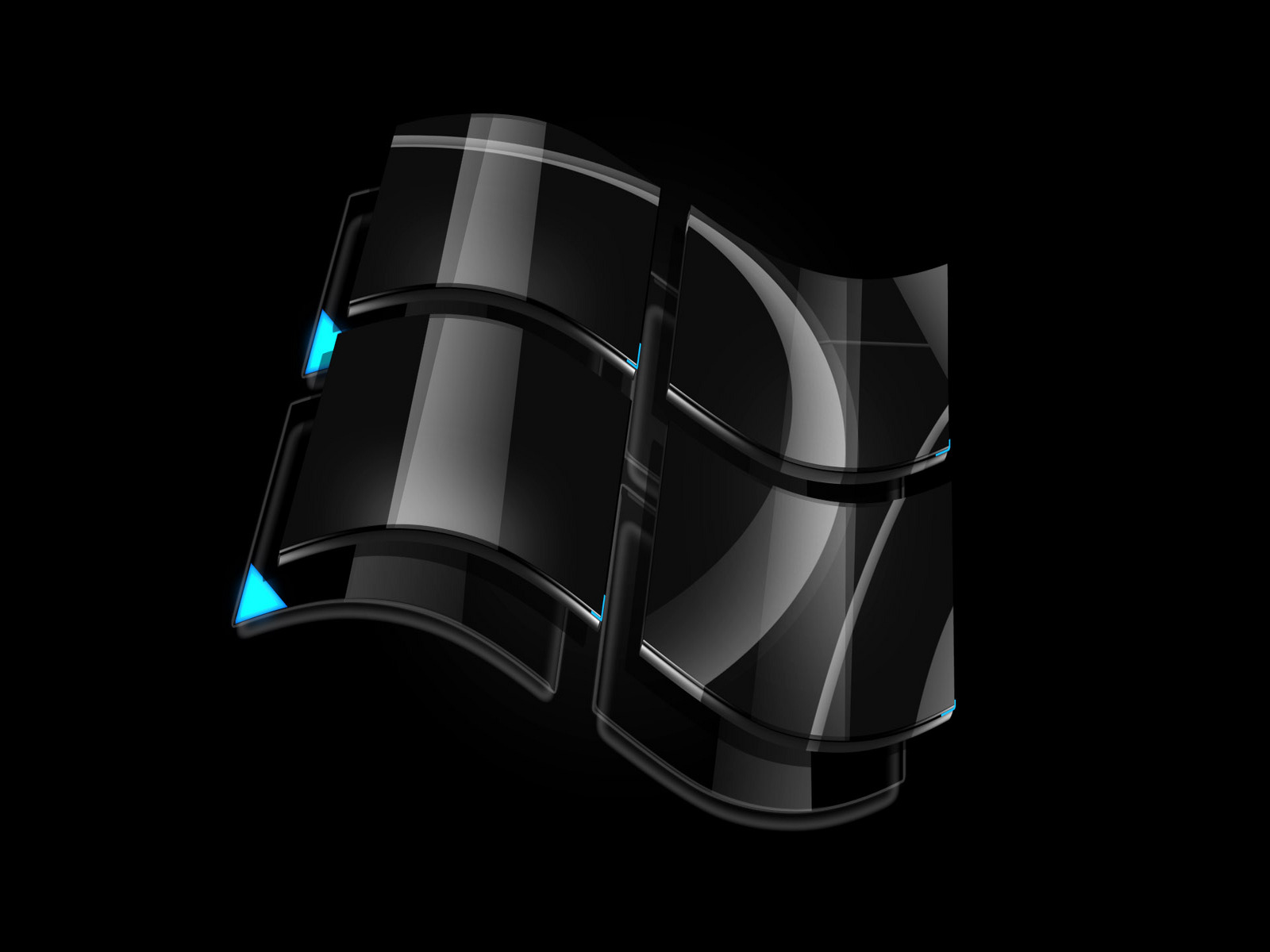 wallpaper | black windows vista logo wallpaper 400x300 Badass