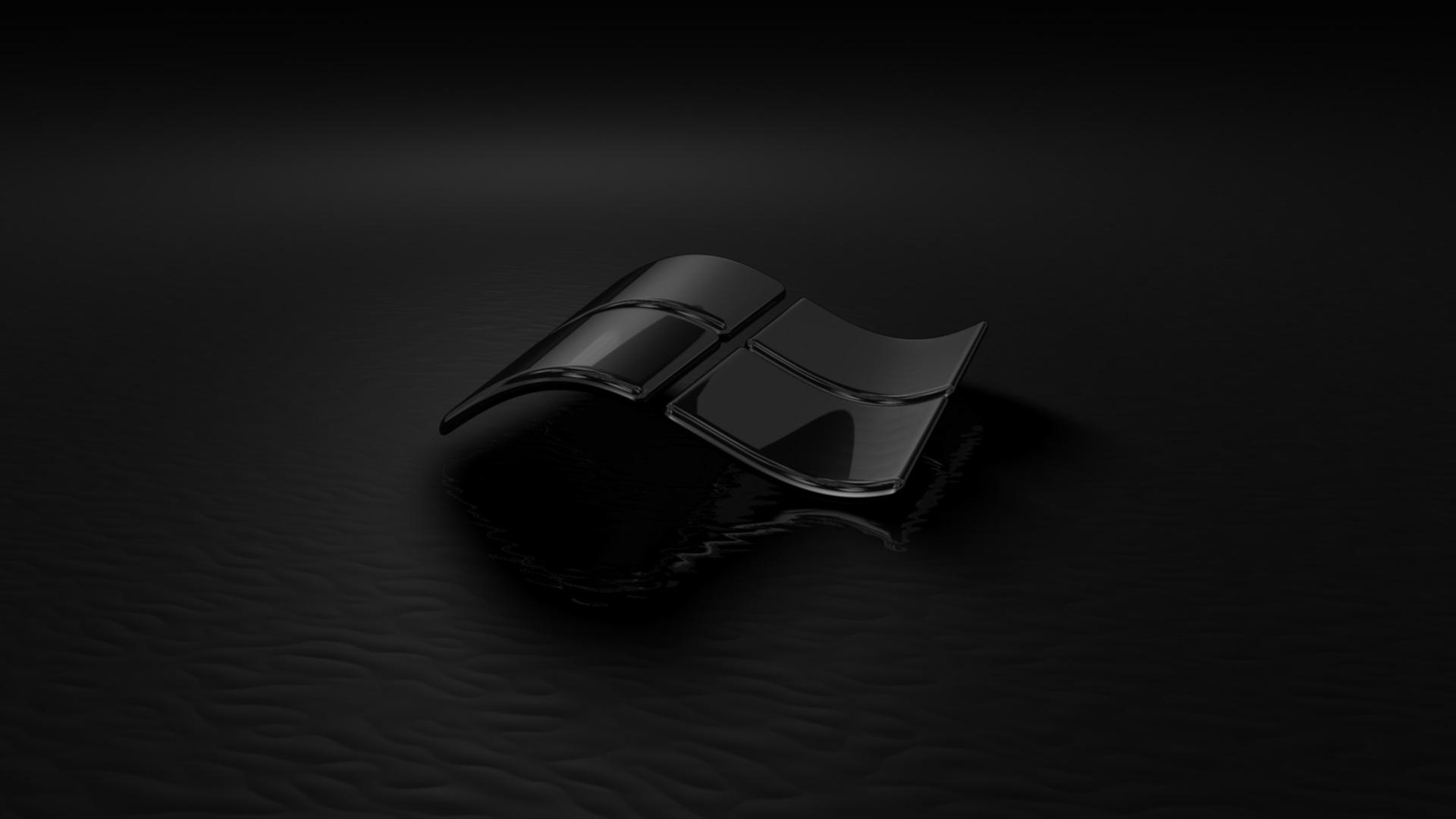 Download Wallpaper 1920x1080 Windows 7, Black, Glass, Reflection