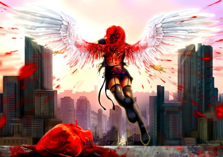 Bloody Anime Angel | Bloody Angel HD wallpapers | Nightcore pics