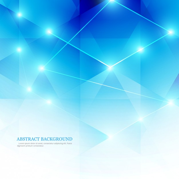 Blue abstract background in low poly style Vector | Free Download