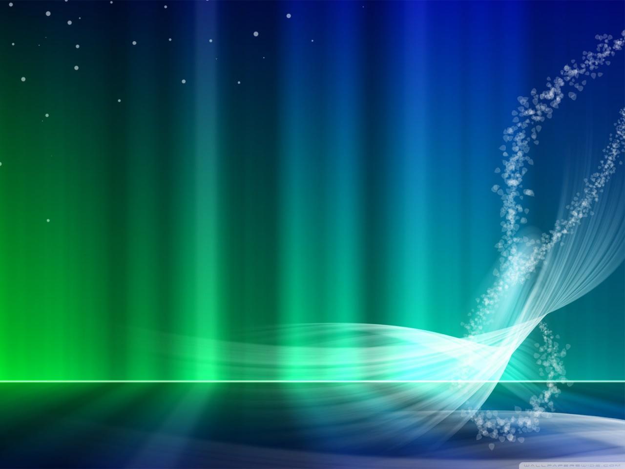 Vista Blue And Green Aurora HD desktop wallpaper : Widescreen