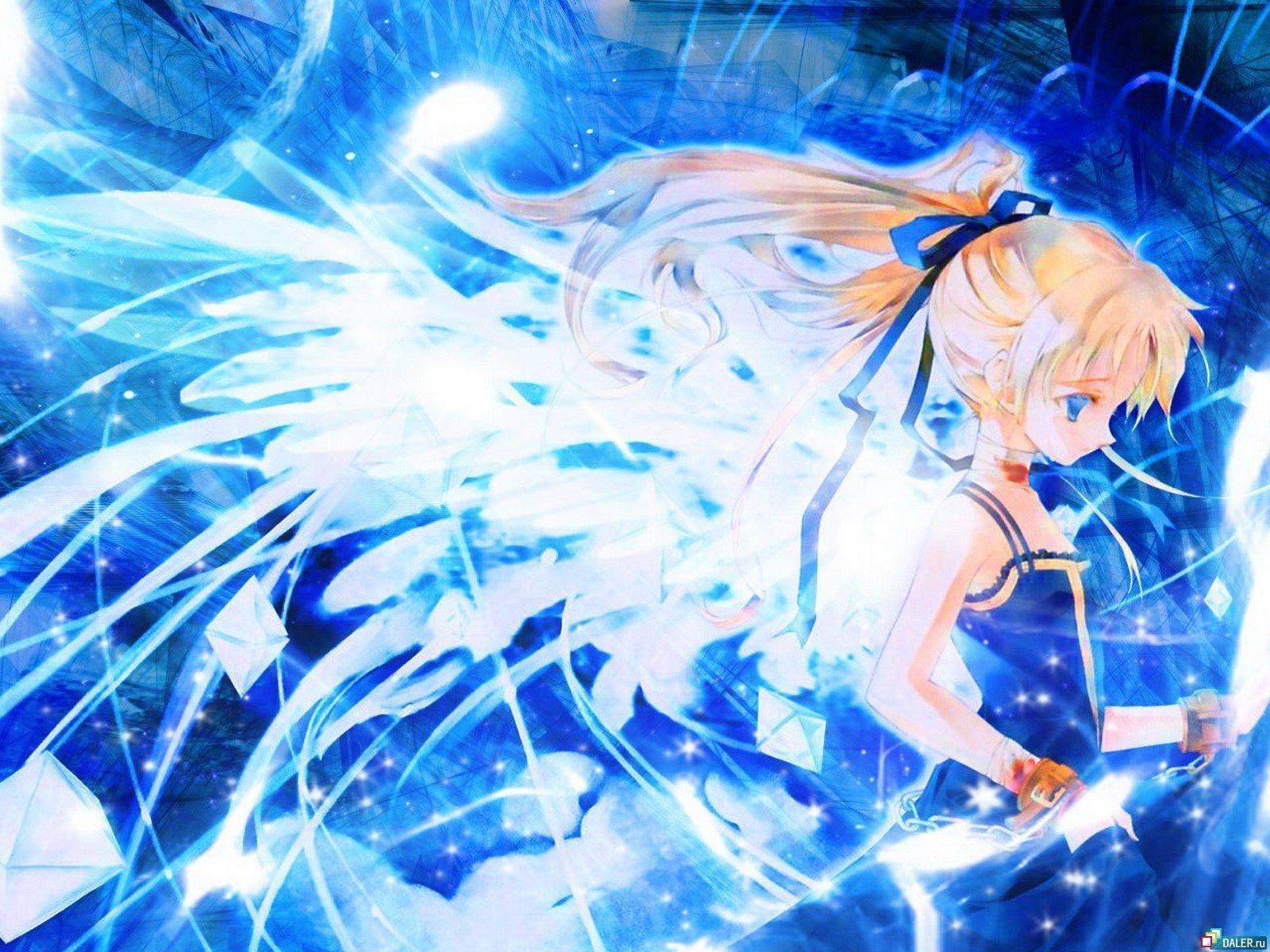 Blue Anime Wallpaper - WallpaperSafari