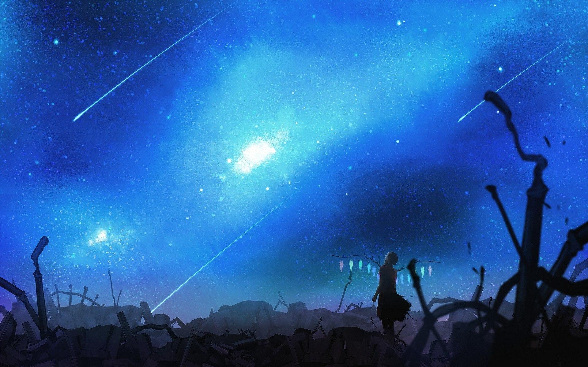 Blue Sky Anime Scenery Free Wallpaper Picture #72892 Wallpaper