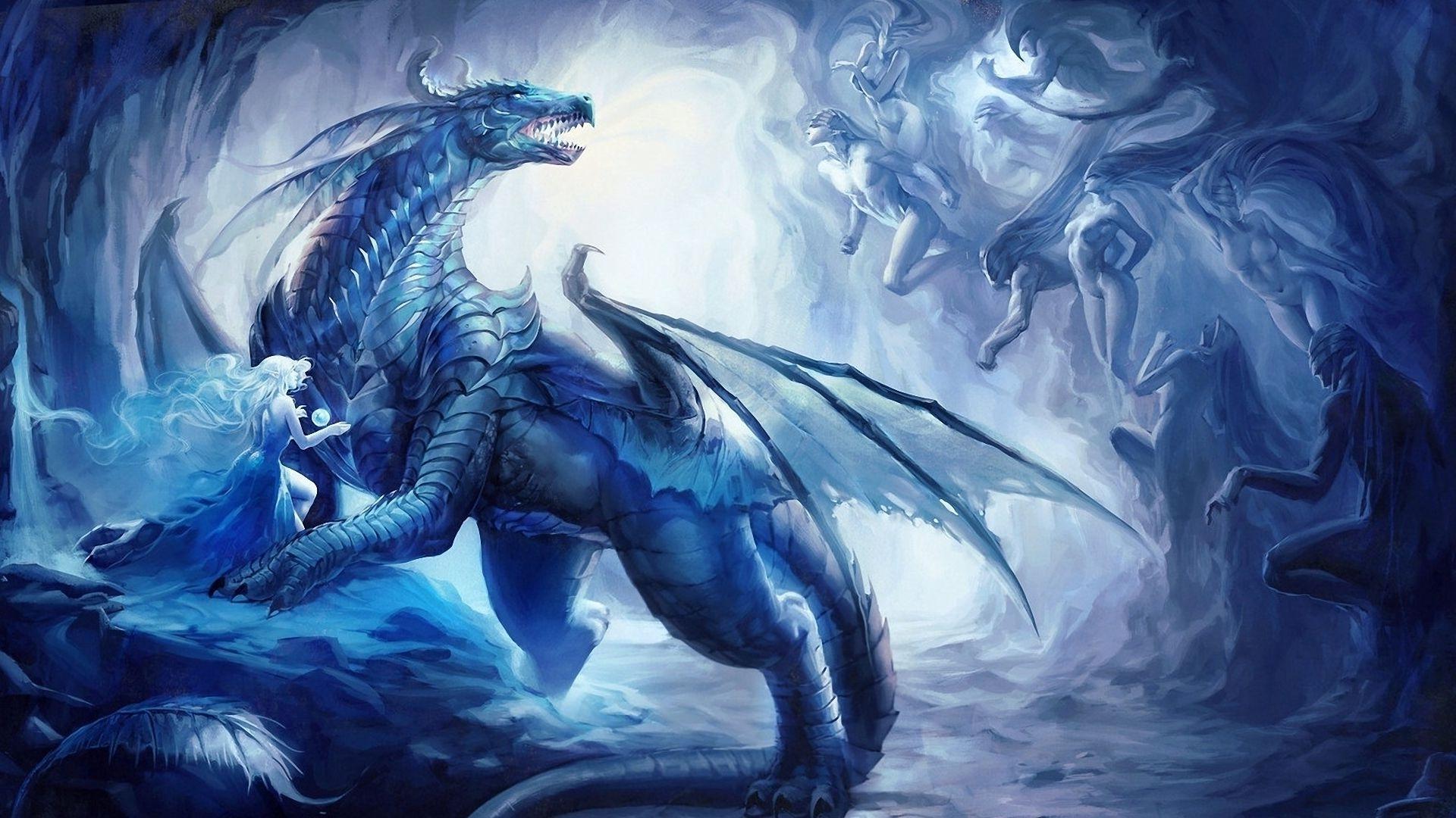 Blue Dragon Wallpaper - WallpaperSafari