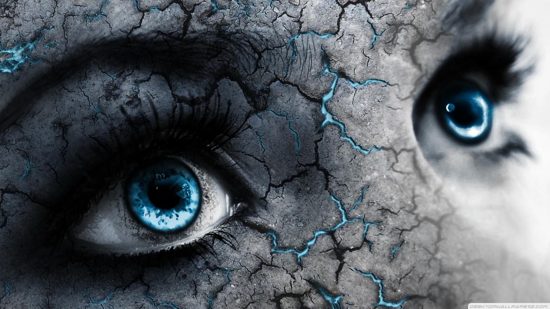 Blue Eyes Cracks 1920×1080 #57690 HD Wallpaper Res: 1920x1080