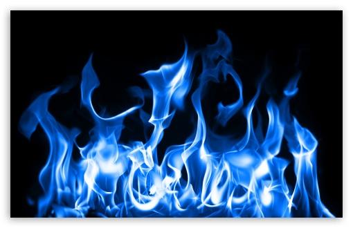 Blue Fire HD desktop wallpaper : High Definition : Mobile