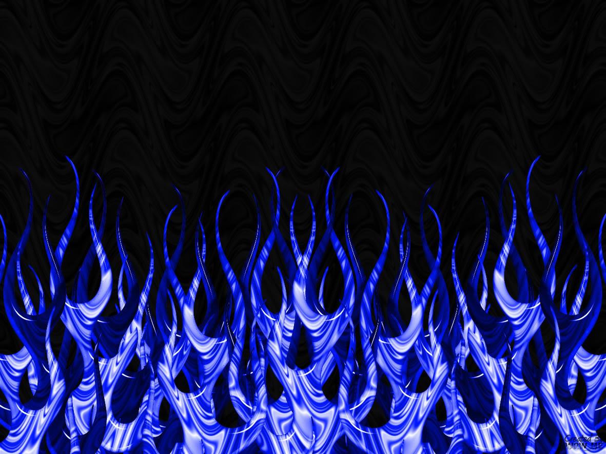Blue Flames Wallpaper