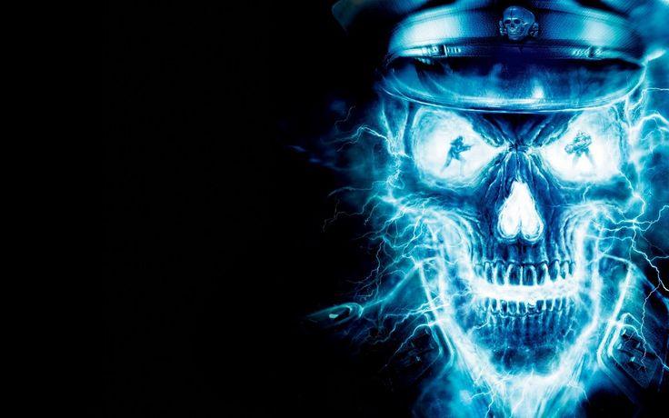 blue flame skull wallpaper nicceeeeeeeeeee | pebmil@yahoo com