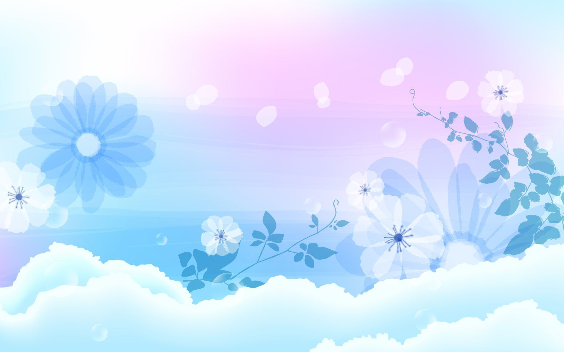 Blue Flowers Backgrounds - Wallpaper Cave