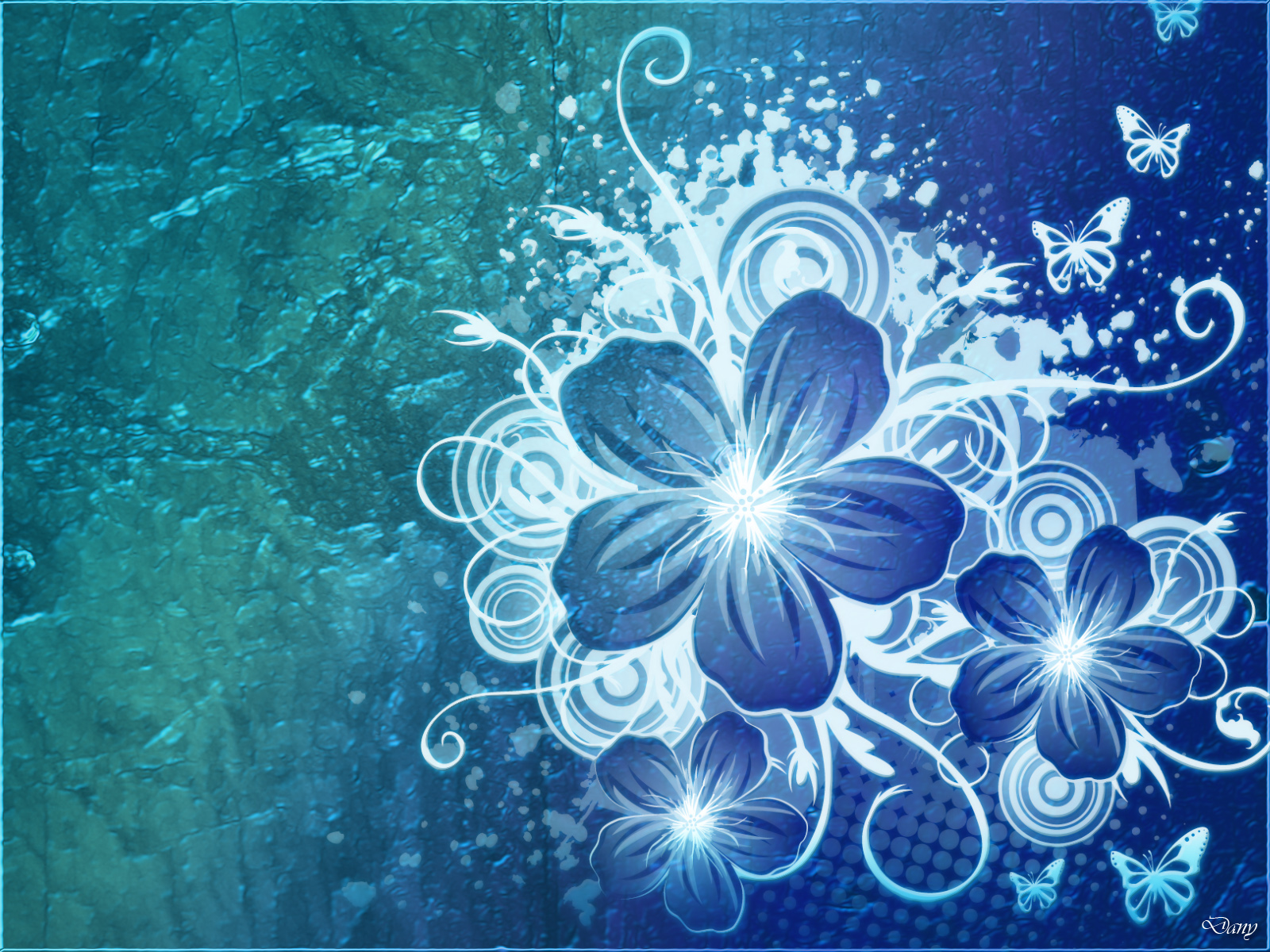 Blue Flower Backgrounds
