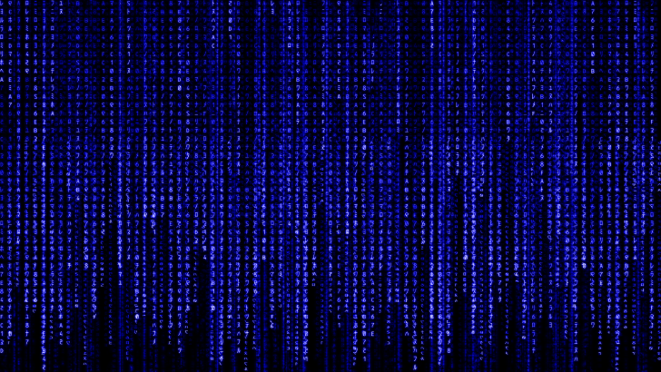 Blue Matrix Wallpaper Wide - Wickedsa com