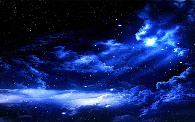 Night Blue Sky – Free wallpaper download