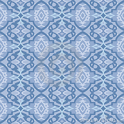 Seamless Blue Pattern, Wallpaper Stock Vector - Image: 44388764