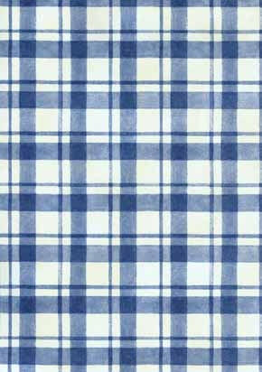 Blue plaid wallpaper