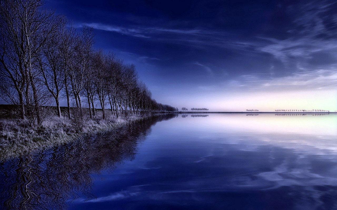 Blue Scenery Wallpaper