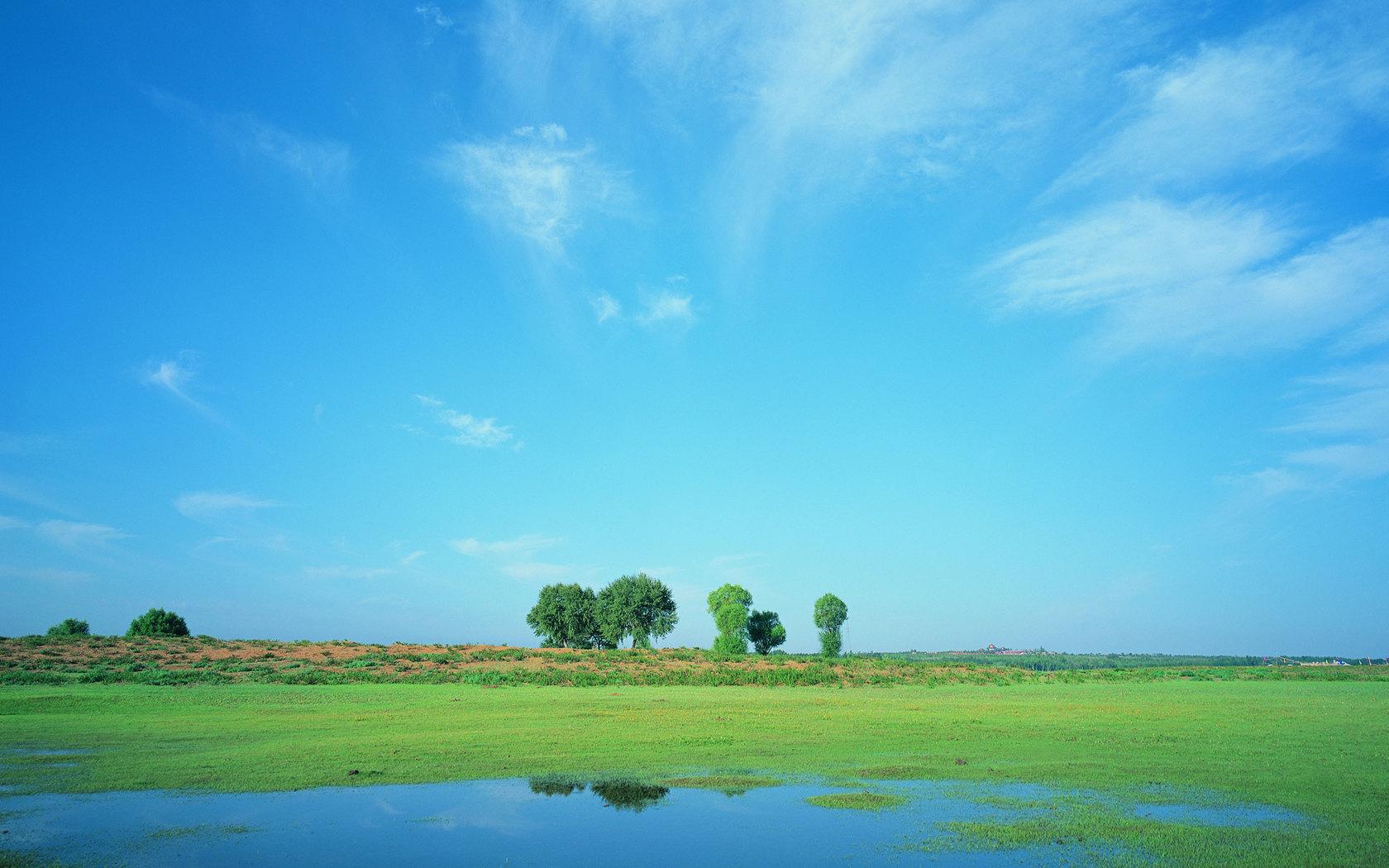 Blue sky prairie scenery 22900 - Wallpapers landscape scenery