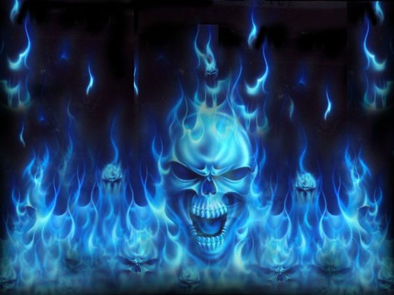 pics of skulls | Blue Skulls On Fire | THE GREATEST SKULLS