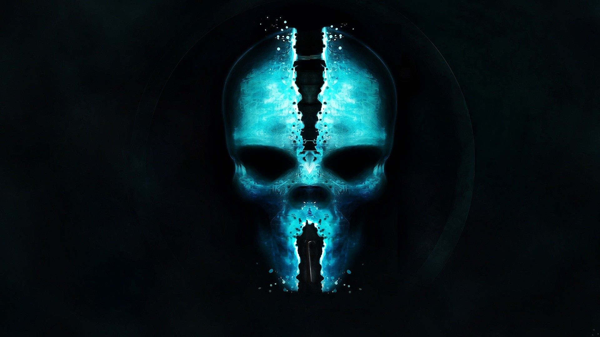 Blue Skull Wallpapers - Wallpaper Cave