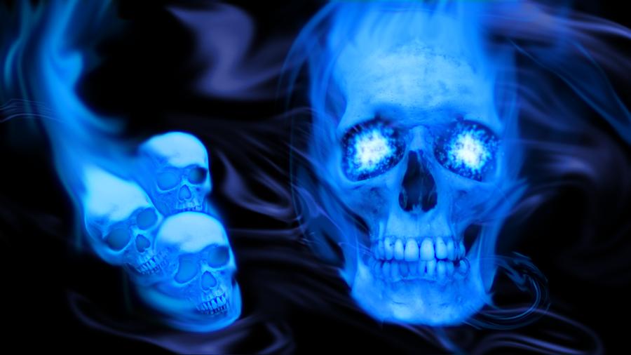 Blue Skulls Wallpaper - WallpaperSafari